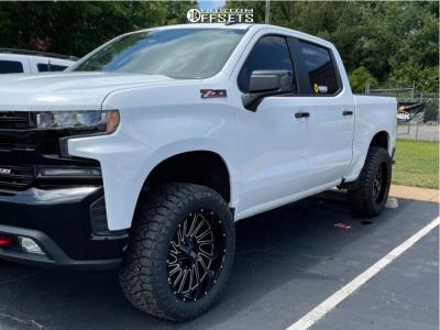 "2020 Chevrolet Silverado 1500 - 22x10 0mm - Hardrock Overdrive - Suspension Lift 2.5"" - 35"" x 12.5"""