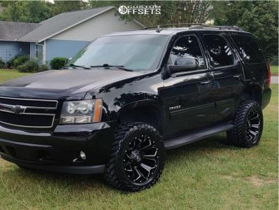 "2013 Chevrolet Tahoe - 20x10 -24mm - Fuel Assault - Suspension Lift 3.5"" - 33"" x 12.5"""