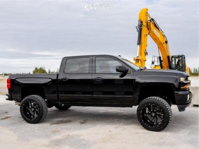 """2017 Chevrolet Silverado 1500 - 22x12 -44mm - Hostile Stryker - Suspension Lift 7"""" - 35"""" x 12.5"""""""
