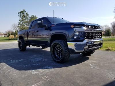 "2021 Chevrolet Silverado 2500 HD - 22x10.5 -25mm - Hostile Lunatic - Stock Suspension - 35"" x 12.5"""