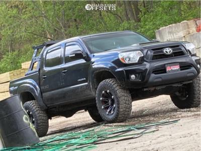 2014 Toyota Tacoma - 17x9 -11mm - Ballistic Jester - Stock Suspension - 285/75R17