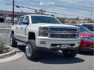 "2015 Chevrolet Silverado 1500 - 20x12 -44mm - Hardcore Offroad Hc17 - Suspension Lift 7.5"" - 35"" x 12.5"""