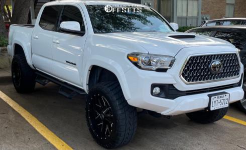 "2019 Toyota Tacoma - 20x10 -139.7mm - Hardrock Affliction - Suspension Lift 3"" - 31"" x 10.5"""