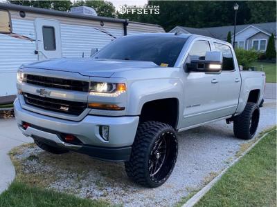 "2018 Chevrolet Silverado 1500 - 24x12 -44mm - TIS 544 - Suspension Lift 6.5"" - 33"" x 12.5"""
