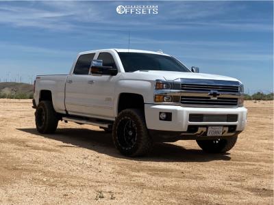 "2016 Chevrolet Silverado 2500 HD - 20x12 -44mm - Tis Forged 544bm - Leveling Kit - 33"" x 12.5"""