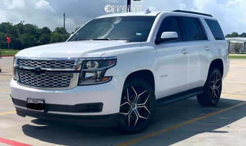 2018 Chevrolet Tahoe - 22x9 35mm - MKW M121 - Stock Suspension - 285/45R22