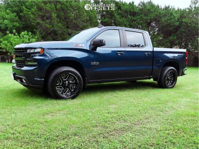 "2020 Chevrolet Silverado 1500 - 20x10 -19mm - Off Road Monster M19 - Stock Suspension - 31"" x 10.5"""