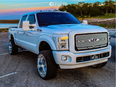 """2011 Ford F-250 Super Duty - 24x12 -44mm - American Force Aka Ss - Stock Suspension - 33"""" x 12.5"""""""