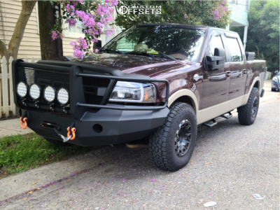 """2008 Ford F-150 - 17x9 -12mm - Fuel Vengeance - Stock Suspension - 35"""" x 11.5"""""""