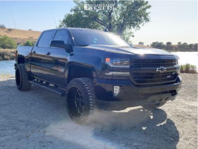 """2017 Chevrolet Silverado 1500 - 22x12 -44mm - Gear Off-Road Big Block - Stock Suspension - 33"""" x 12.5"""""""