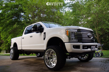 """2017 Ford F-350 Super Duty - 24x14 -73mm - American Force Octane Ss - Suspension Lift 4"""" - 35"""" x 13.5"""""""