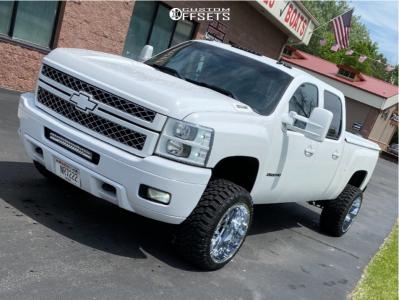 """2013 Chevrolet Silverado 2500 HD - 22x14 -81mm - RBP Glock - Stock Suspension - 33"""" x 14.5"""""""