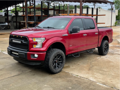 """2015 Ford F-150 - 20x10 12mm - Wicked Offroad W903 - Suspension Lift 4.5"""" - 275/55R20"""