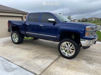 "2014 Chevrolet Silverado 1500 - 24x12 0mm - American Force Octane Ss - Suspension Lift 9"" - 375/40R24"