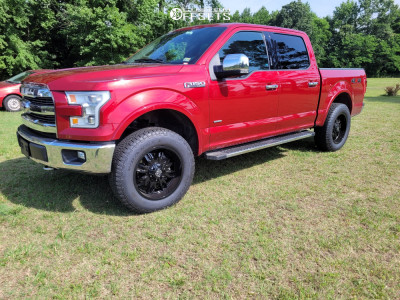 2015 Ford F-150 - 20x9 0mm - Panther Offroad 580 - Leveling Kit - 275/65R20