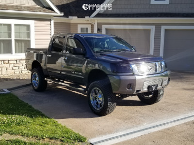 "2012 Nissan Titan - 20x10 -44mm - Fuel Hosatge - Suspension Lift 6"" - 35"" x 12.5"""