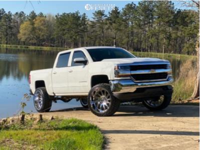 "2016 Chevrolet Silverado 1500 - 24x12 -41mm - Hardcore Offroad Hc15 - Suspension Lift 5"" - 33"" x 12.5"""