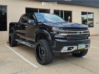 "2020 Chevrolet Silverado 1500 - 24x12 -44mm - Axe Offroad Hades - Suspension Lift 6"" - 35"" x 12.5"""