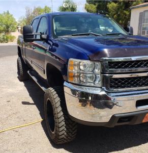 """2013 Chevrolet Silverado 2500 HD - 20x10 -24mm - XD Grenade - Suspension Lift 7.5"""" - 35"""" x 12.5"""""""