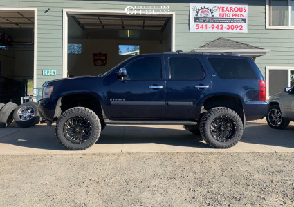 """2007 Chevrolet Tahoe - 20x12 -19mm - Xtreme Force Xf6 - Suspension Lift 7.5"""" - 35"""" x 12.5"""""""