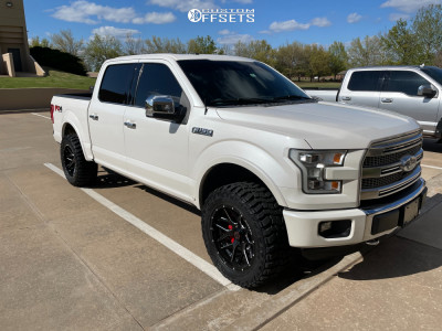 """2015 Ford F-150 - 20x10 -12mm - Wicked Offroad W903 - Suspension Lift 3"""" - 305/55R20"""