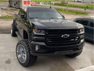 "2017 Chevrolet Silverado 1500 - 22x14 0mm - Vision Spyder - Suspension Lift 6"" - 355/35R22"