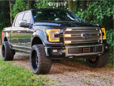 """2015 Ford F-150 - 22x14 -76mm - Xtreme Force Xf008 - Leveling Kit - 33"""" x 14.5"""""""