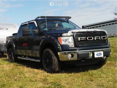 "2010 Ford F-150 - 17x9 -12mm - Anthem Off-Road Defender - Stock Suspension - 31"" x 9.5"""