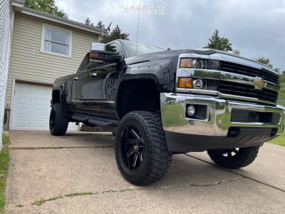 "2017 Chevrolet Silverado 2500 HD - 20x10 -25mm - Arkon Off-road Lincoln - Suspension Lift 6"" - 35"" x 12.5"""