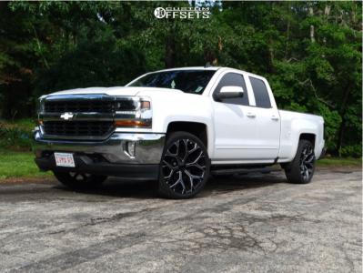 "2016 Chevrolet 1500 - 24x10 24mm - Oe Performance 176 - Level 2"" Drop Rear - 305/35R24"