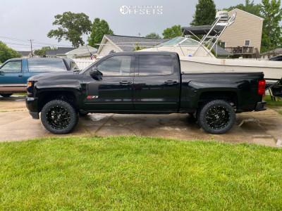 "2017 Chevrolet Silverado 1500 - 20x9 0mm - XD Xd820 - Suspension Lift 2.5"" - 33"" x 11.5"""