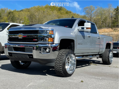 "2017 Chevrolet Silverado 2500 HD - 22x14 -76mm - KG1 Forged Vile - Suspension Lift 3.5"" - 33"" x 12.5"""