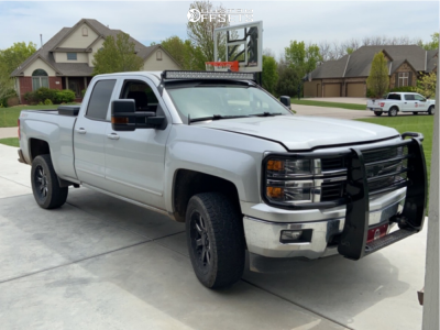 """2015 Chevrolet Silverado 1500 - 20x9 0mm - Black Rhino Sierra - Suspension Lift 3.5"""" - 31"""" x 10.5"""""""