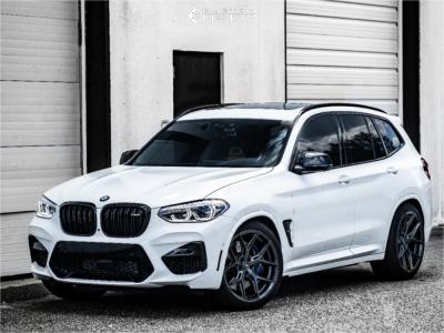 2020 BMW X3 - 21x9.5 17mm - Vossen Hf5 - Lowering Springs - 265/30R21