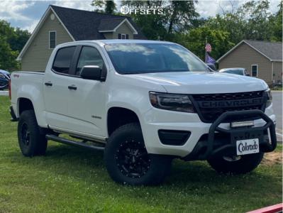 "2020 Chevrolet Colorado - 16x8 0mm - Moto Metal Mo970 - Suspension Lift 2.5"" - 265/75R16"