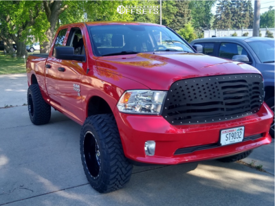 "2018 Dodge Ram 1500 - 20x12 -44mm - Tis 544bm - Suspension Lift 4"" - 35"" x 12.5"""