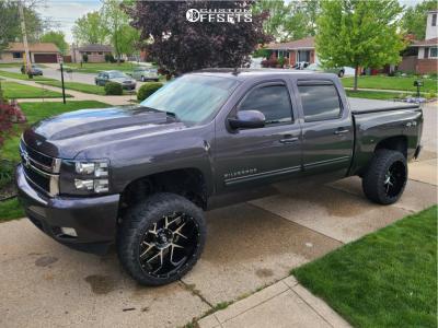 "2010 Chevrolet Silverado 1500 - 22x12 -57mm - Vision Sliver 360 - Suspension Lift 3.5"" - 33"" x 12.5"""