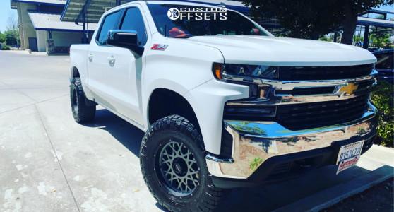 "2020 Chevrolet Silverado 1500 - 18x9 -12mm - Vision Rocker 412 - Suspension Lift 3.5"" - 35"" x 12.5"""