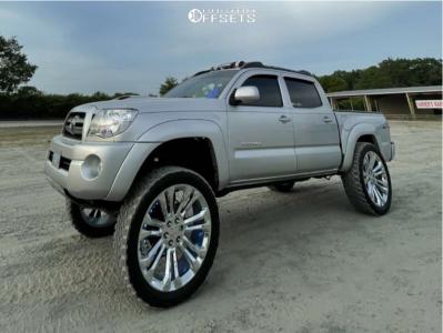 "2010 Toyota Tacoma - 24x10 24mm - Oe Performance Split 7s - Suspension Lift 6"" - 35"" x 12.5"""