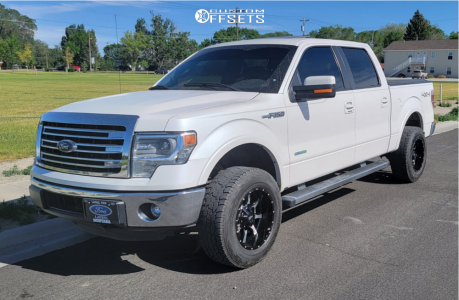 2014 Ford F-150 - 18x10 -24mm - Moto Metal Mo970 - Leveling Kit - 275/65R18