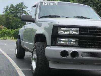 1992 Chevrolet C1500 - 15x10 -25mm - Vision 521 Nitro - Stock Suspension - 275/60R15