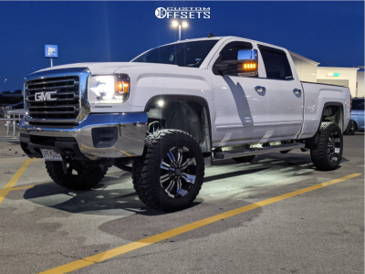"""2015 GMC Sierra 2500 HD - 20x9 10mm - Panther Offroad 501 - Suspension Lift 3.5"""" - 275/65R20"""