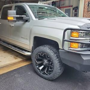 "2018 Chevrolet Silverado 2500 HD - 20x10 -18mm - Fuel Assault D576 - Leveling Kit - 33"" x 60"""