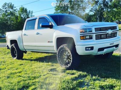 """2015 Chevrolet Silverado 1500 - 20x10 -25mm - TIS 544mb - Suspension Lift 3.5"""" - 33"""" x 12.5"""""""