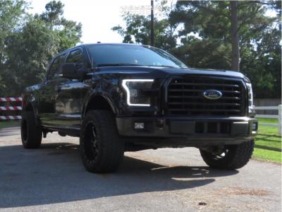 "2016 Ford F-150 - 20x10 -24mm - Fuel Gatling - Leveling Kit - 33"" x 12.5"""