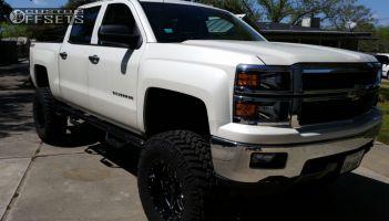 "2014 Chevrolet Silverado 1500 - 18x10 -24mm - American Eagle 16 - Suspension Lift 6"" & Body 3"" - 37"" x 12.5"""