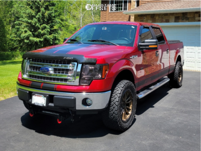 """2013 Ford F-150 - 20x9 1mm - Fuel Rebel - Leveling Kit - 33"""" x 12.5"""""""