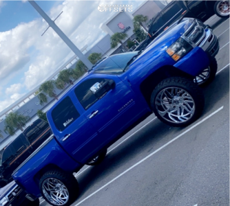 "2011 Chevrolet Silverado 1500 - 26x14 0mm - TIS 544c - Suspension Lift 6"" - 37"" x 13.5"""