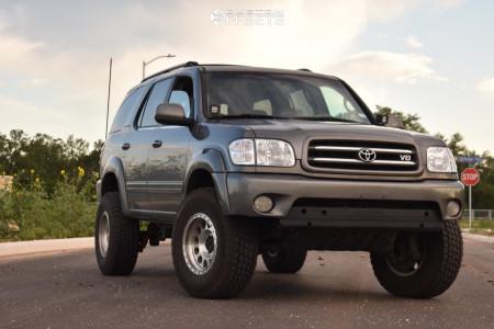 """2003 Toyota Sequoia - 17x9 0mm - Method Mr315 - Suspension Lift 3"""" - 285/75R17"""