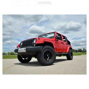 """2014 Jeep Wrangler JK - 18x9 1mm - Fuel Anza - Suspension Lift 2.5"""" - 33"""" x 12.5"""""""